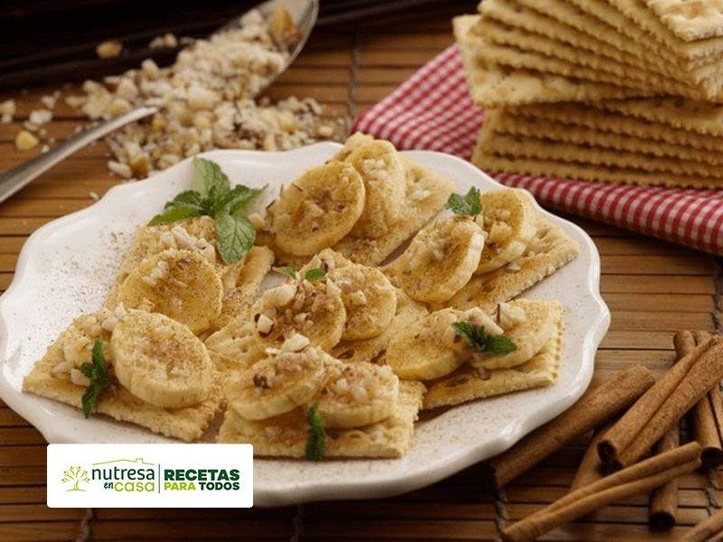 Receta galletas con bocaditos de banano