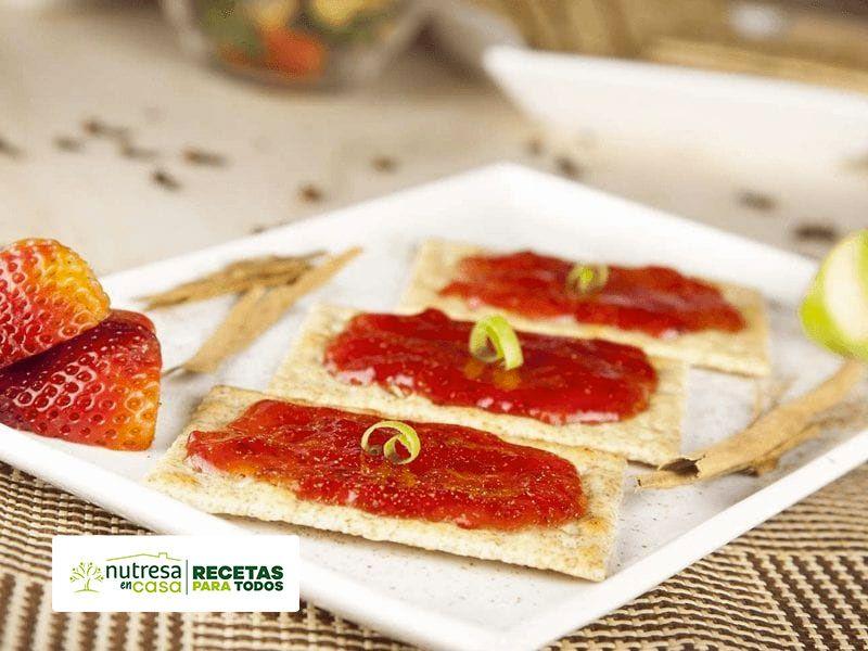 Receta galletas con mermelada de fresa