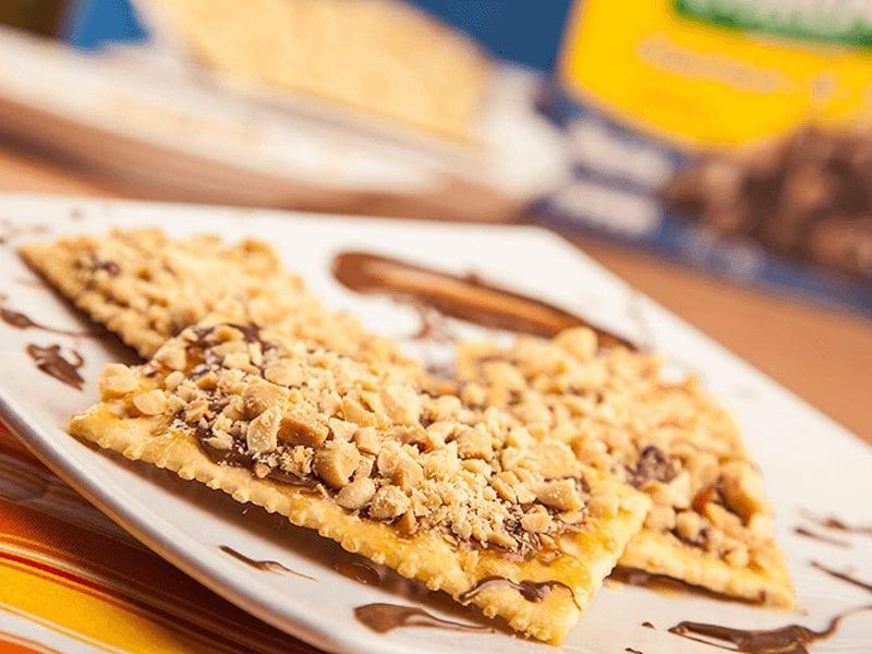 Receta galletas saltin noel tradicional con caramelo y chocolate saltin noel