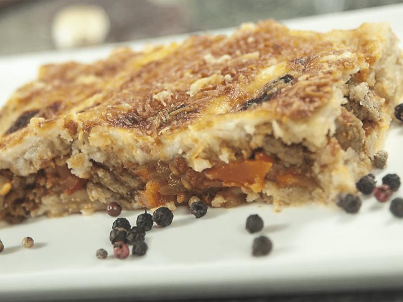 Receta lasgna saltin noel integral con carne y vegetales