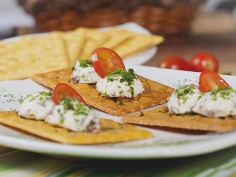 Receta saltin noel bolitas de queso con champiniones