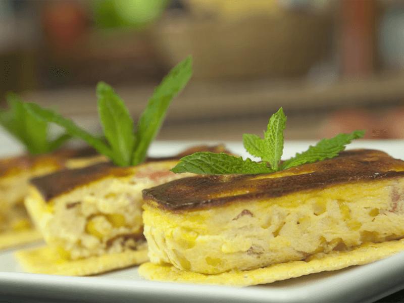Receta saltin noel montadito con maiz tomate queso crema