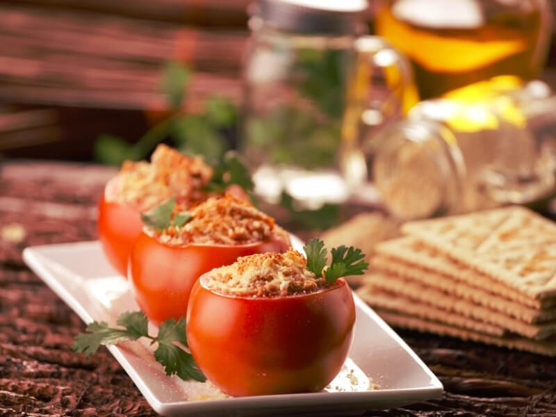 Receta saltin noel tomates rellenos con galletas