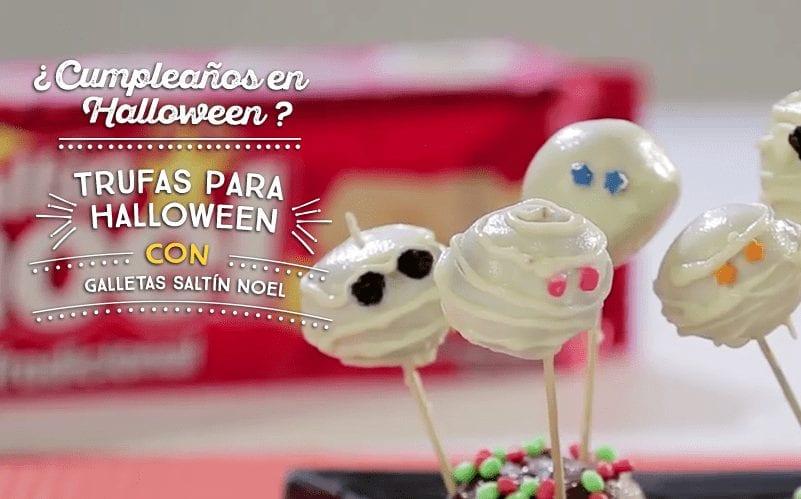 Trufas para Halloween con Galletas Saltín Noel