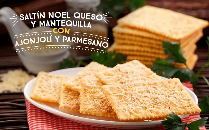 Saltín Noel Queso y Mantequilla con Ajonjolí y Parmesano