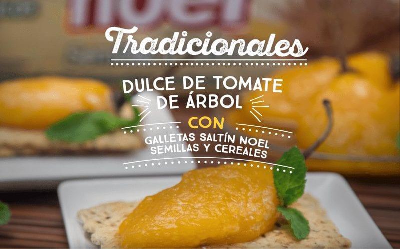 Dulce de tomate de árbol con Galletas Saltín Noel Semillas y Cereales