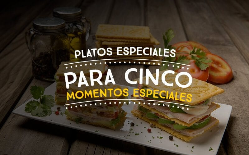 Platos especiales para cinco momentos especiales