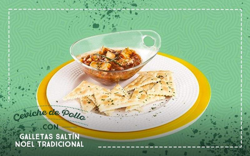 Receta: ¿Prefieres un Ceviche de Pollo con Galletas Saltín Noel Tradicional?